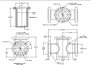 Mechanical 2D 3D CAD Drafting Drawings